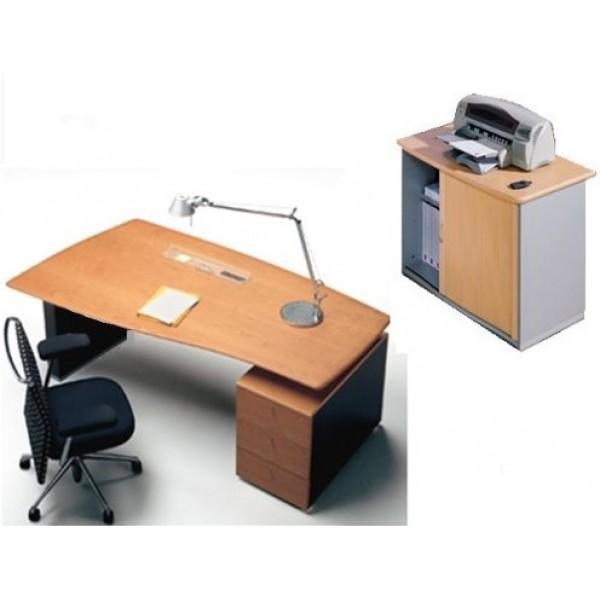 Conjunto secretarial boss 100 escritorio moderno for Lista de mobiliario de oficina