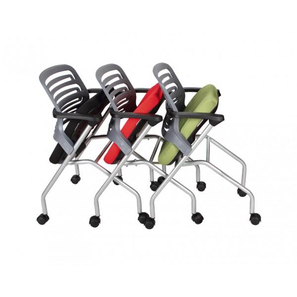 Silla ika roja silla para capacitacion silla moderna for Silla universidad