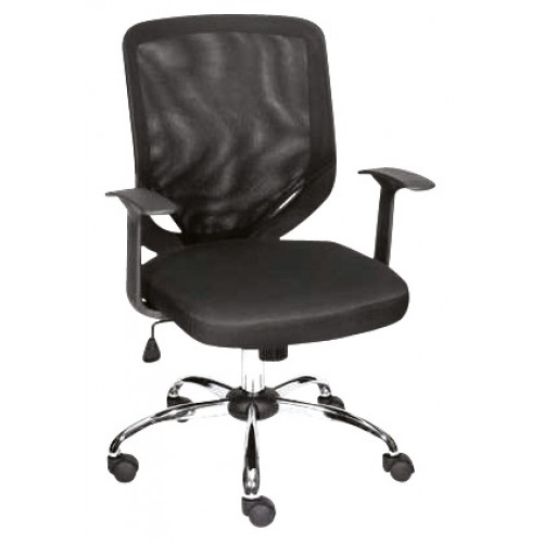 Silla operativa iron negra silla moderna silla for Sillas negras modernas